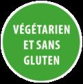 Menu végétarien et sans gluten